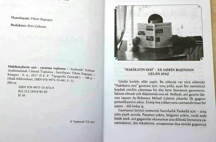Gagauz Edebiyatı'na Bir Kitap Daha Eklendi: Hakikatçıların Sesi