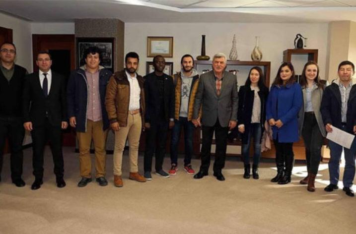 TDBB Başkanı Uluslararası Öğrencileri Kabul Etti