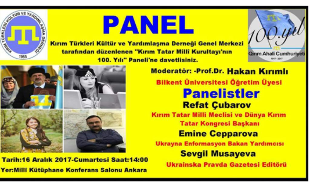 Kırım Ahali Cumhuriyeti'nin 100. yılı Ankara'da Anıldı