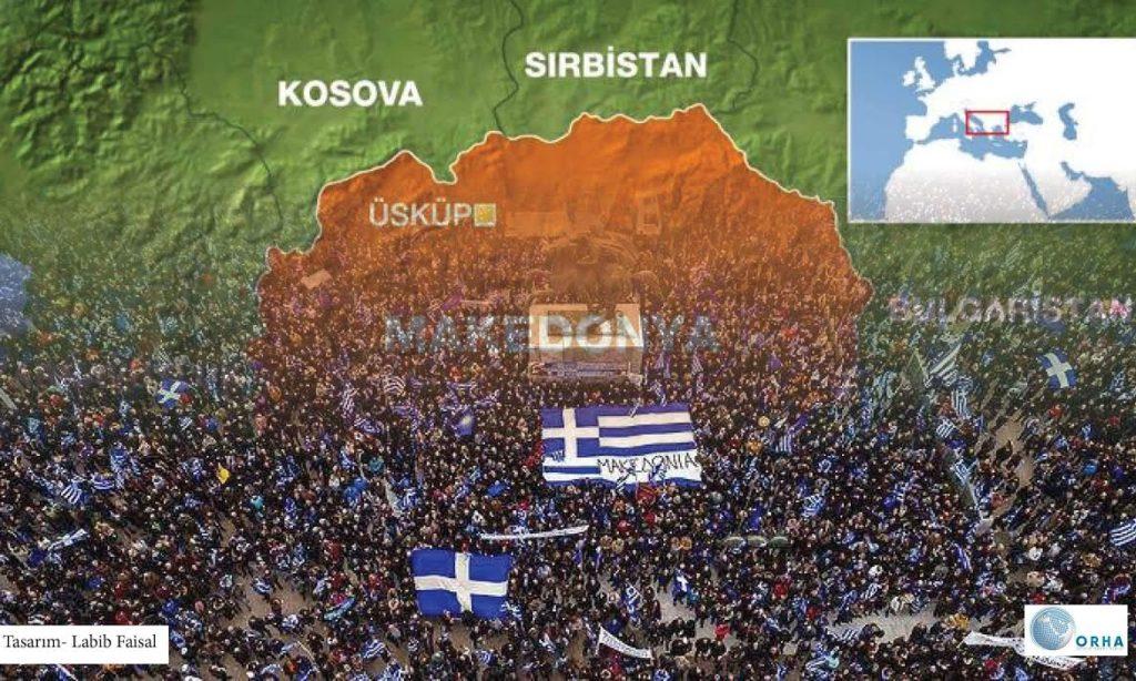 Makedonya için Atina'da Protesto Var