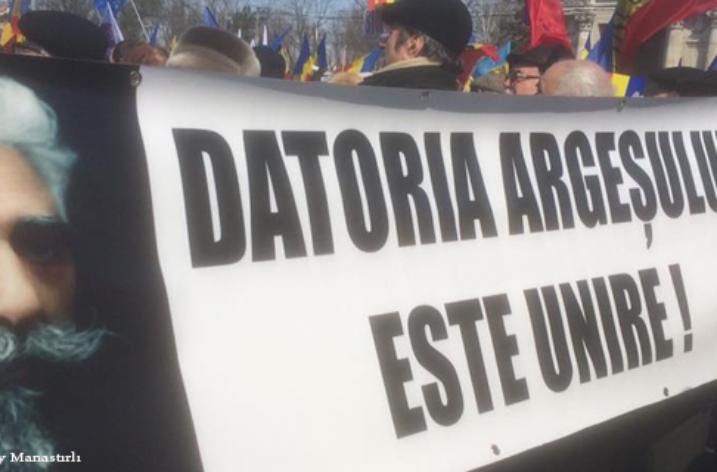 Moldova'da Romanya ile Birleşmek için Miting Düzenlendi