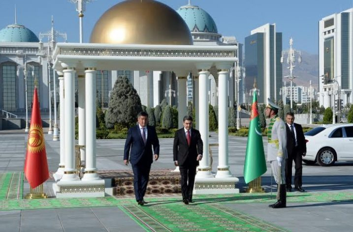 Kırgızistan Cumhurbaşkanından Türkmenistan'a Resmi Ziyaret