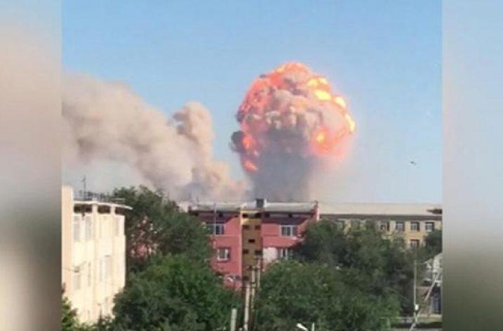 Kazakistan'da askeri mühimmat deposunda patlama meydana geldi