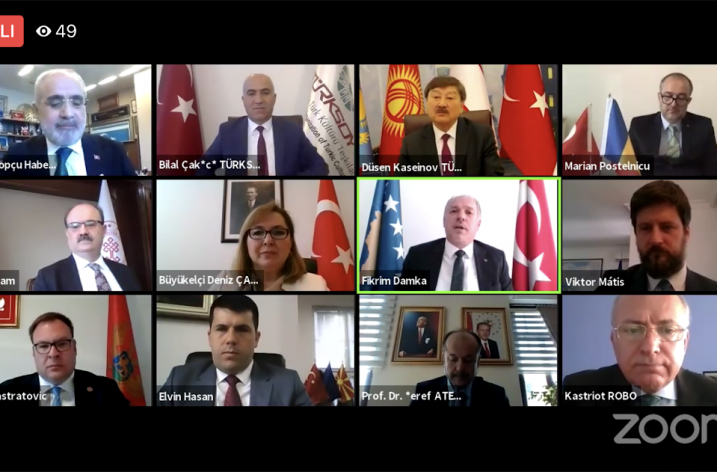 TÜRKSOY–Balkanlar kitabının çevrim içi tanıtım toplantısı gerçekleştirildi