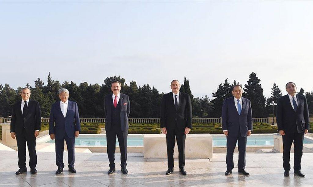 Azerbaycan Cumhurbaşkanı İlham Aliyev, Türk Konseyi Genel Sekreterini ve Türk Ticaret ve Sanayi Odası heyetini kabul etti