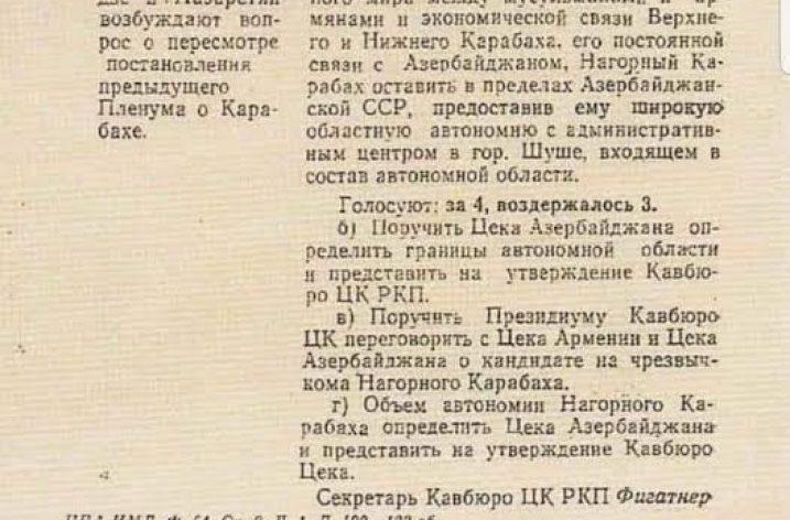Tarihte Karabağ'ın Özerklik Kararı
