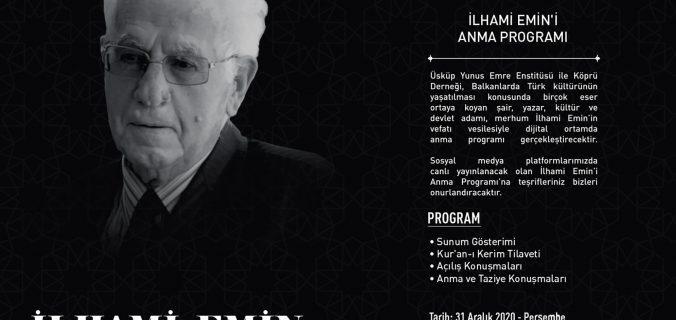 Makedonya Türklerinin Bilgesi İlhami Emin'i Anma Programı
