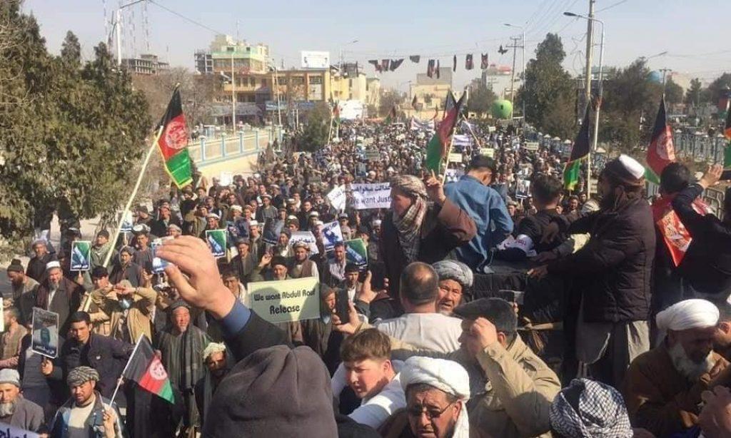 Afganistan Türkmenleri Abdul Rauf için sokaklarda